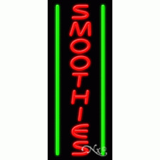 """New """"Smoothies"""" 32x13 Vertical Border Real Neon Sign W/Custom Options 11624"""