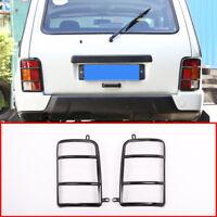 For LADA NIVA 2Pcs Alluminium Alloy Car Rear Tail Lamp Protector Frame Trim