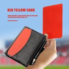 Sport Football Large Referee Red Yellow Card Sport Match Soccer Sheet Set kit