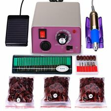 Professional Electric Nail Drill File Kit Power Unit - Set Low Noise & Vibration