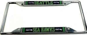 Seattle Seahawks Laser TREAD CHROME LICENSE PLATE FRAME ST 4 Low Cut for tags