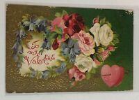Vintage Postcard To My Valentine Feb 12 1910 Ohio