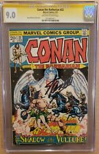 Conan The Barbarian #22 CGC 9.0 SS Stan Lee OW-W