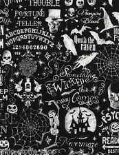 REST Halloween Patchworkstoffe Baumwollstoffe Totenkopf Patchwork Stoffe Gothic