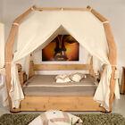 Luxus Himmelbett 180x200 Toraja Natur Doppelbett Bambus Bett Rattan Exklusiv Neu günstig