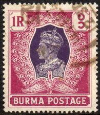 1946 Burma Sg 60 1r violet and maroon Fine Used
