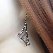boucles d'oreilles Harpe celtique ou médiévale