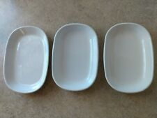 """New listing Delta Airlines Dishes Corning Ware Sidekick 3 White Dishes 5""""x7"""" Porcelain Dish"""
