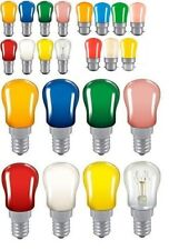 15 watt Coloured Pygmy Light Bulbs  Branded BC. SBC. SES End Caps sign lamps