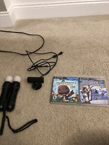 Playstation 3 Move With Two Controllers And Two Games