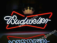 New Budweiser Crown Bowtie Bow Tie Neon Sign Beer Bud Light FAST FREE SHIPPING
