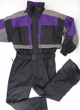 Vintage Mens One Piece Ski Snowmobile Suit Black Purple size 46 Couloir