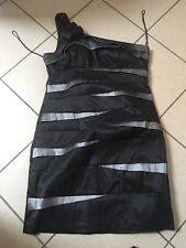 Scarlett Nite ** Kleid*Cocktailkleid*one shoulder*Schwarz/Grau*Größe 38/40 * NEU