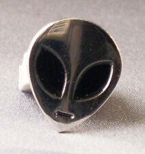 Metal Enamel Pin Badge Brooch Alien Face UFO Space