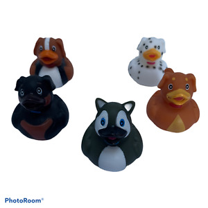 Dog rubber duck, novelty bath toy, party bag loot, favours, loot bag filler