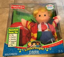 "Fisher Price Little People Musical Eddie 12"" Doll How To Teacher NEW in beat box"