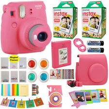 Fujifilm Instax Mini 9 Instant Camera Pink + 40 Film Valentine Gift Acc Bundle