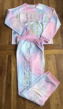 River Island Girls Tie Dye Lounge Set Pink 11-12 Years