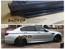 For BMW F10 M5 Carbon Fiber Side Skirt Extension Spoiler Splitte 3D style