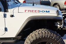 FREEDOM Full Color Hood Decal Kit for your Jeep Wrangler JK TJ