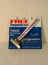 Vintage 1976 Schick Type L Championship Injector Razor W/ Blades ABC TV Olympic