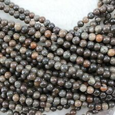 """6mm Round Bamboo Agate Beads Loose Gemstone Beads for Jewelry Making Strand 15"""""""