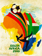 2010 FIFA World Cup Soccer South Africa Sports Travel Advertisement Poster