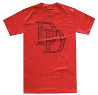 Marvel Daredevil DD Logo Red Men's T-Shirt New