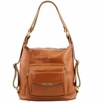 Tuscany Leather Ladies Convertible Italian Leather Bag in Cognac RRP £ 138