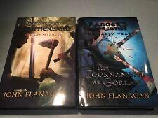 JOHN FLANAGAN  LOT OF 2  BOOKS - RANGERS APPRENTICE - 1ST EDITION HC/ DJ FREE SH