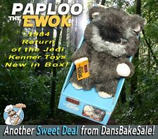 Star Wars ROTJ Paploo the Ewok Plush by Kenner 1984 New in Box with Tags NICE!