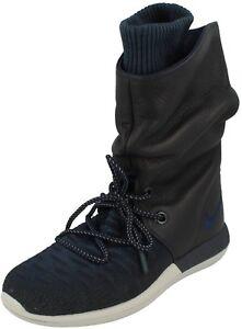 Nike Roshe Two Hi Flyknit Women`s Boots 861708 400 Blue /Navy