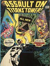 ASSAULT ON TITANS' TOWER! 1983 Whitman! B&W Teen Titans Reprints