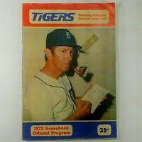 Detroit Tigers Baseball Official Scorebook and Program 1973 Billy Martin AL