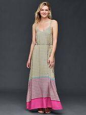 NWT Gap Double-strap print maxi dress pink print SIZE M TALL    #239750