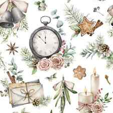 4 Lunch Paper, Napkins, for Decoupage, Party, Table, Craft, Time for Christmas