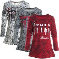 Markenlose Langarm Mädchen-Tops, - T-Shirts & -Blusen mit Motiv