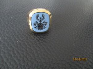 Wappen Herrenring aus Lagenstein in 333 Gold