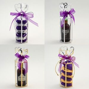 Lantern Wedding Favour Gift Box Transparent Clear PVC Silver/Gold Trim