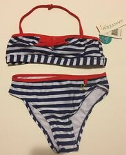 Girls Jantzen Bikini Swimsuit Size 10 Nautical Red White Blue NWT Cruise