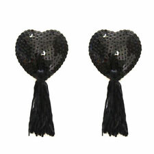 2pair Sexy Heart Shape Tassel Pasties Nipple Covers Stick on Breast Bra Lingerie