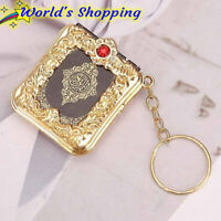 Koran Keyring - Real Quran Mini Book - Gold Colour - Same Day Dispatch