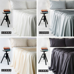 New Natural Bamboo Cotton Bed 400TC Thread Count Sheet Set, Fitted Sheet