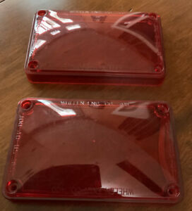 Whelen 400 Series Red Lens 400 Series SAE WW5 Clear Lot Of Two