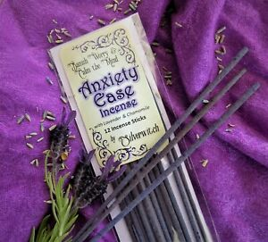 Ease Anxiety Wicca Incense  Lavender and Chamomile 12 Pack Witchcraft Pagan