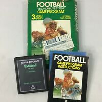 Vintage Football Atari 2600 Video Game Cartridge Box Manual 1978 Sport