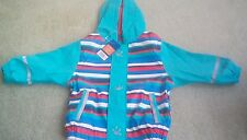 Lightweight showerproof raincoat fleece lined 2-4 years