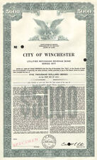 City of Winchester > Clark County Kentucky $5,000 specimen bond certificate