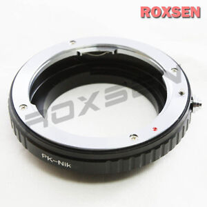 Macro Confirm Pentax K PK lens to Nikon F mount Adapter D4 D600 D800 D5200 D7100