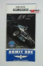2006 Indy US Grand Prix Formula One Unused Race Ticket Employee Complimentary